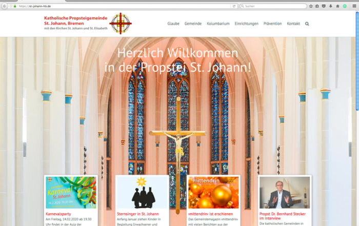 St. Johann, Bremen, Website-Start