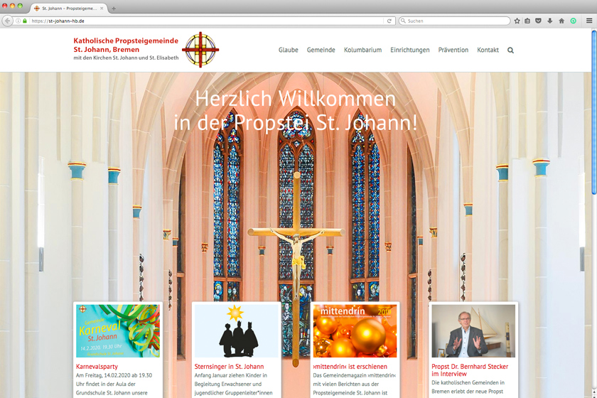 St. Johann, Bremen, Website-Start
